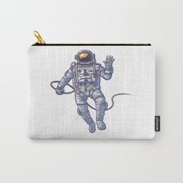 ASTRONAUT FLOATING IN SPACE ILLUSTRATION Carry-All Pouch