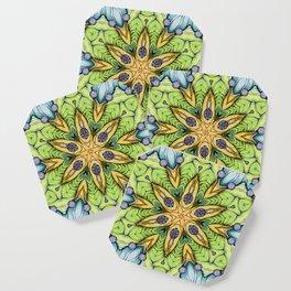 Yelow-green mandala Coaster