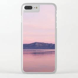 Rose Colored Dream of Lake Tahoe Clear iPhone Case