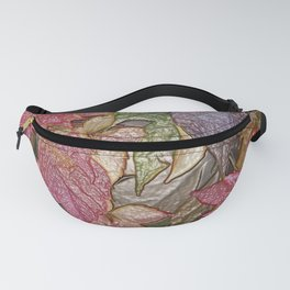 Glossy autumn leaves Fanny Pack