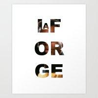 LaFORGE Art Print