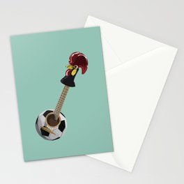 fado, soccer,and a cock from barcelos Stationery Cards