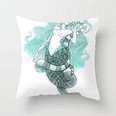 Mermaid's Sea Krait Throw Pillow