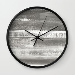 Grey Horizon Wall Clock