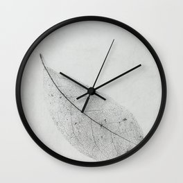 leaf skeleton on texture Wall Clock