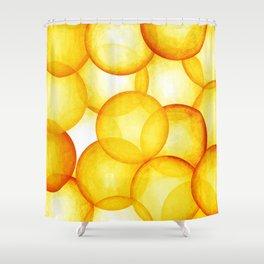 PLAYFUL ORANGE SPHERES Shower Curtain