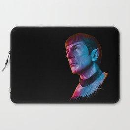 "Homage to Leonard Nimoy - Mr. Spock ""Star Trek"" (colored version) Laptop Sleeve"