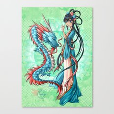 Blue dragon Canvas Print