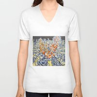 inception V-neck T-shirts featuring Concerted Inception by Eric Walker