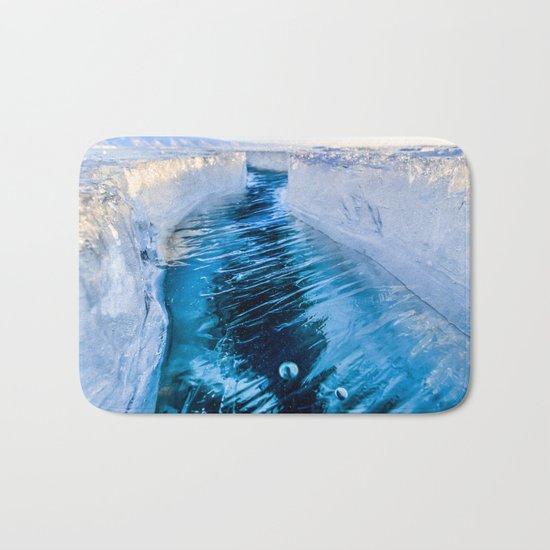 The crack of Baikal ice Bath Mat