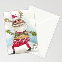 Steampunk Santa Stationery Cards