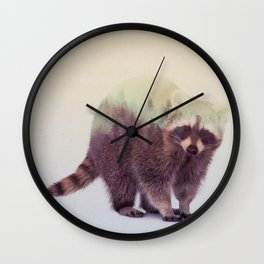 Little Ones: Raccoon Wall Clock