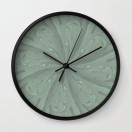 Lost in the Laurels Fractal Bloom Wall Clock