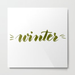 Winter - green Metal Print