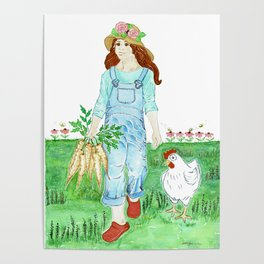 Luci and Susie - Gifts from the Garden Poster