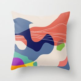 Quantum abstract Throw Pillow