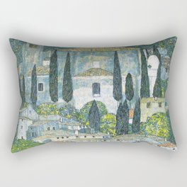 Gustav Klimt - Church in Cassone Rectangular Pillow