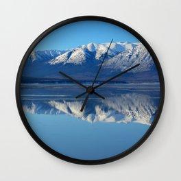 Turnagain Arm Mirror - Alaska Wall Clock