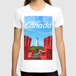Chairs and Lighthouse, Canada T-shirt