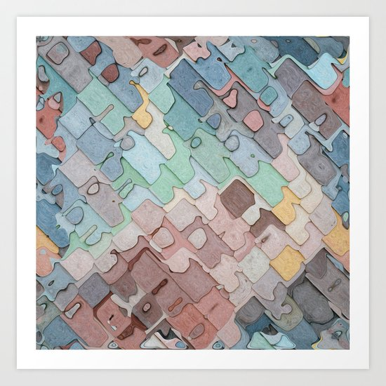 Colorful Layers Pattern Art Print