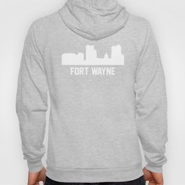 Fort Wayne Indiana Skyline Cityscape Hoody