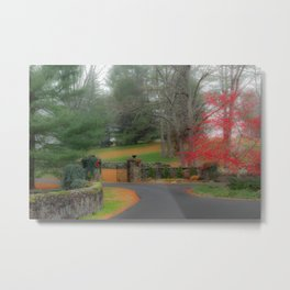 Misty Christmas Metal Print