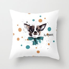 Chic Chihuahua dog Throw Pillow
