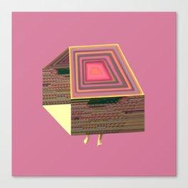 Pink Virtual House Canvas Print