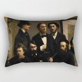 Fantin -latour, un coin de table Rectangular Pillow