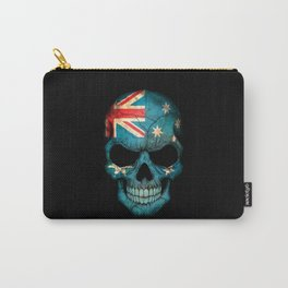 Dark Skull with Flag of Australia Carry-All Pouch