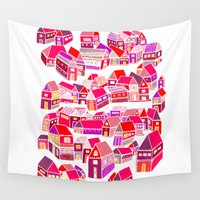 home sweet home Wall Tapestries featuring Home Sweet Home by Shakkedbaram