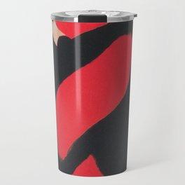 Red Scarf Vintage Fashion Poster Travel Mug