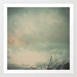 The skies they were ashen and sober Art Print