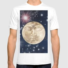 Man in the Moon Mens Fitted Tee White MEDIUM