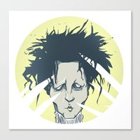 edward scissorhands Canvas Prints featuring edward scissorhands by Berkay Daglar