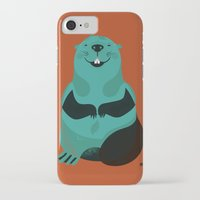 beaver iPhone & iPod Cases featuring Beaver by The Little Friends of Printmaking
