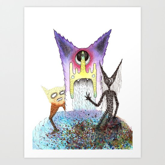 Lunar Trine Art Print