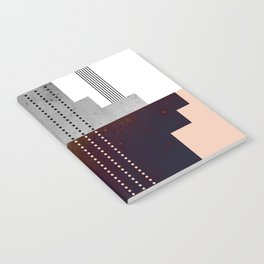 Speckled Polygon Dot Stripe Notebook