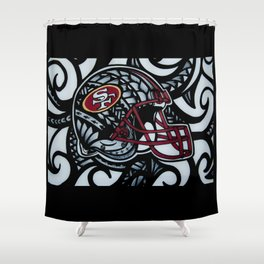 POLY STYLE 49ERS Shower Curtain