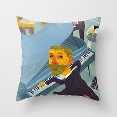 Amundsen's party Throw Pillow