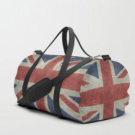 England's Union Jack flag of the United Kingdom - Vintage 1:2 scale version Duffle Bag
