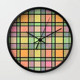 multicolor tartan. Wall Clock
