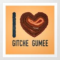 I Heart Gitche Gumee - North Shore Agate Hunting Club print  Art Print