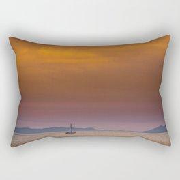 Yacht sailing towards Catalina Island Rectangular Pillow