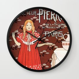 Dentifrice French belle epoque toothpaste ad Wall Clock