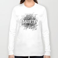 anxiety Long Sleeve T-shirts featuring anxiety by petrsvetr