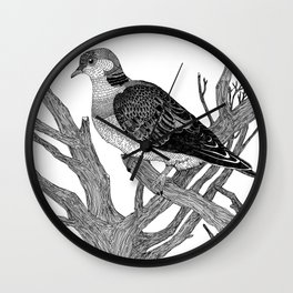 Turtle dove Wall Clock