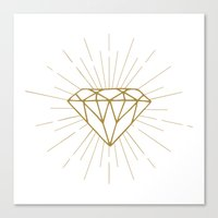 diamond Canvas Prints featuring Diamond by Hipster