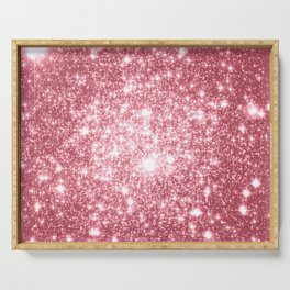 Pink Sparkle Stars Serving Tray