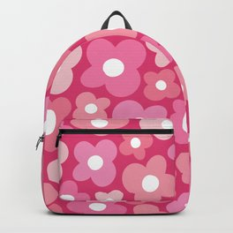 Pink Flower Power Backpack